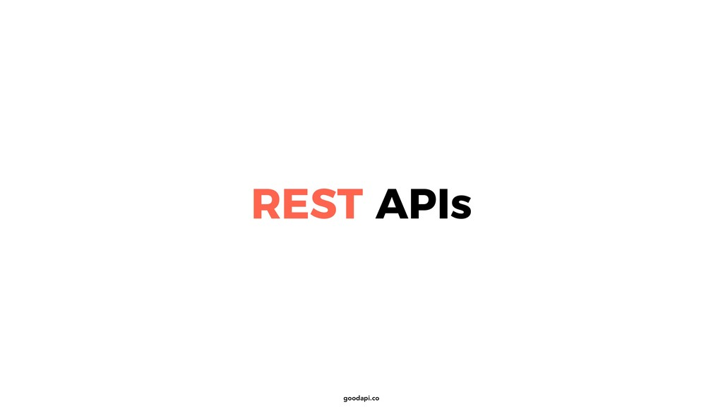 goodapi.co REST APIs