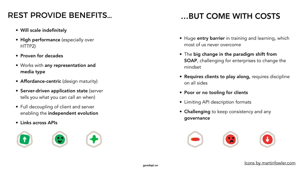 goodapi.co REST PROVIDE BENEFITS… …BUT COME WIT...