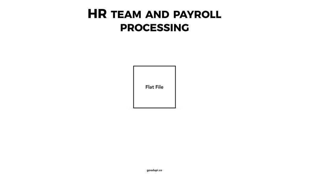 goodapi.co HR TEAM AND PAYROLL PROCESSING Flat ...