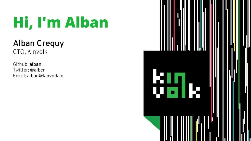 Hi, I'm Alban Alban Crequy CTO, Kinvolk Github:...
