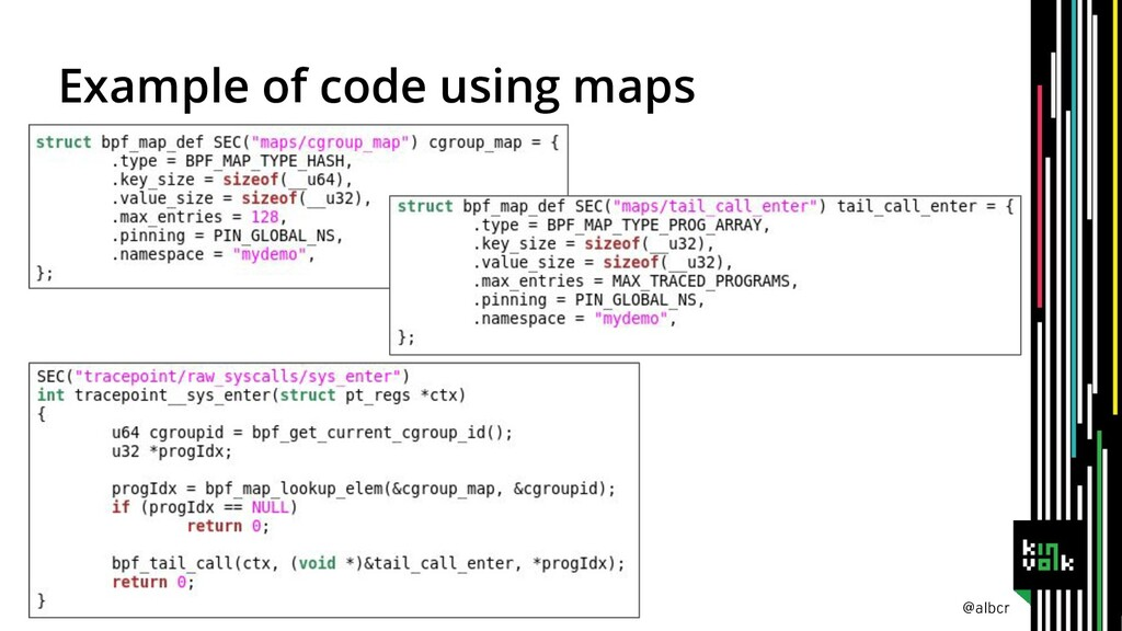 @albcr Example of code using maps