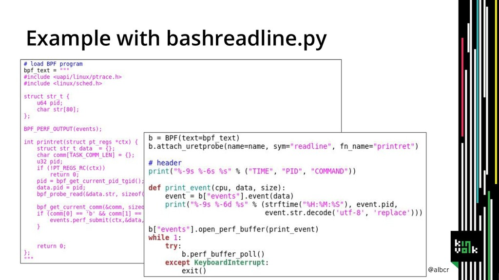 @albcr Example with bashreadline.py