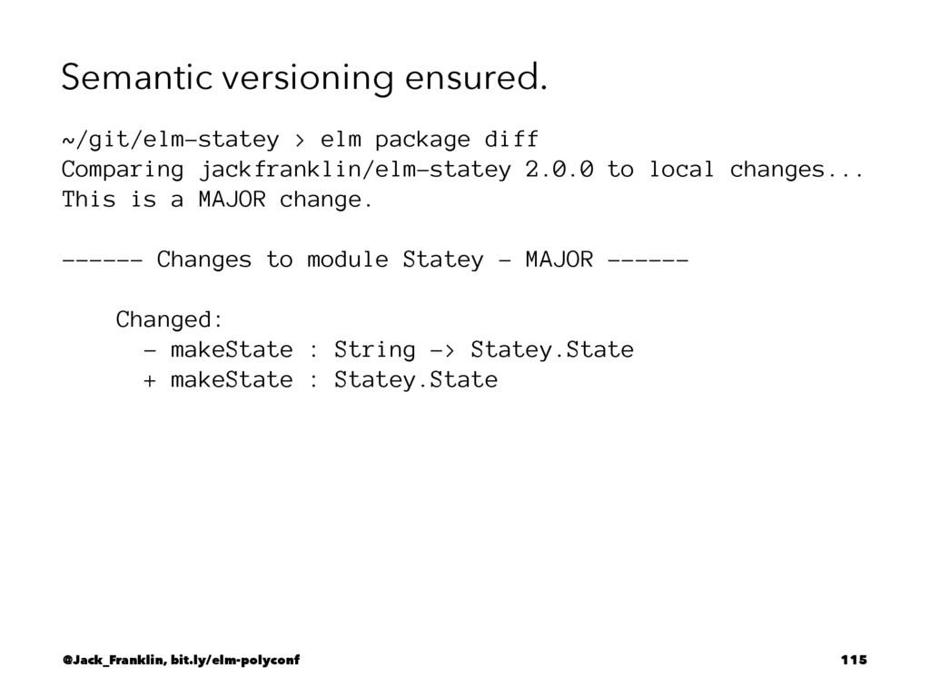 Semantic versioning ensured. ~/git/elm-statey >...