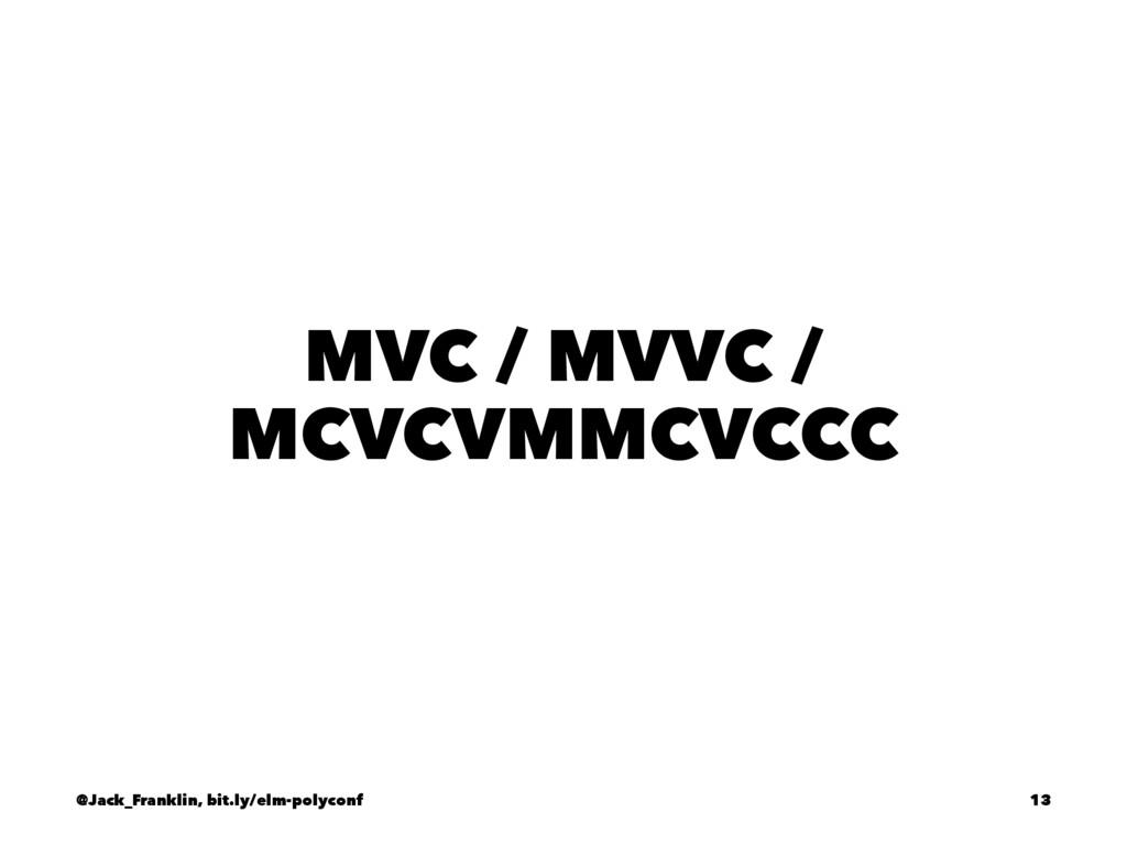MVC / MVVC / MCVCVMMCVCCC @Jack_Franklin, bit.l...