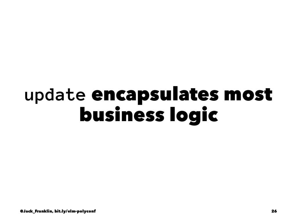 update encapsulates most business logic @Jack_F...