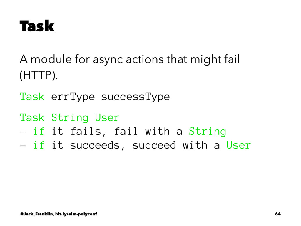 Task A module for async actions that might fail...