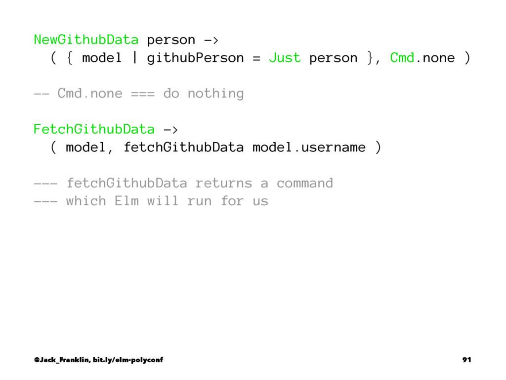NewGithubData person -> ( { model | githubPerso...