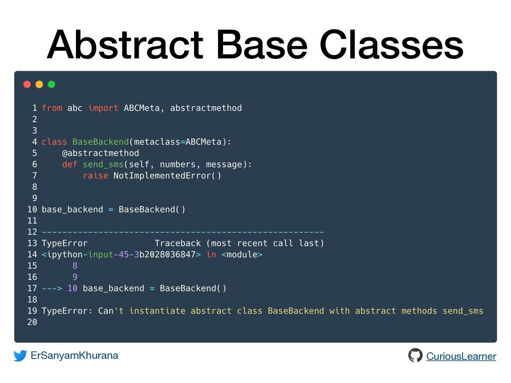 Abstract Base Classes ErSanyamKhurana CuriousLe...