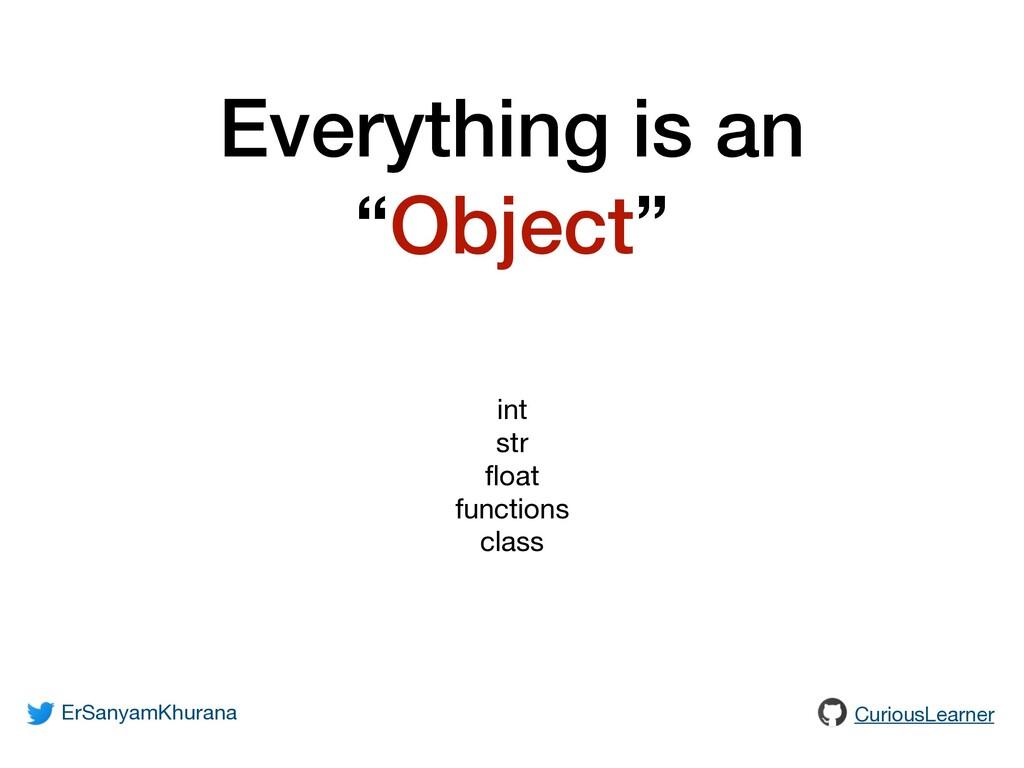 "Everything is an ""Object"" ErSanyamKhurana Curio..."
