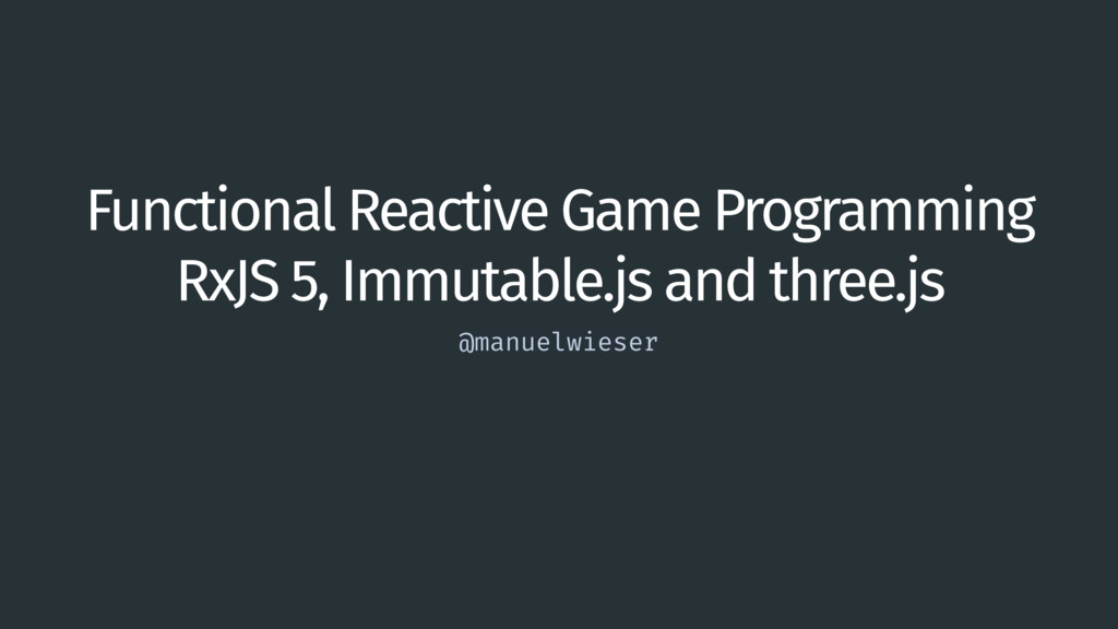 Functional Reactive Game Programming