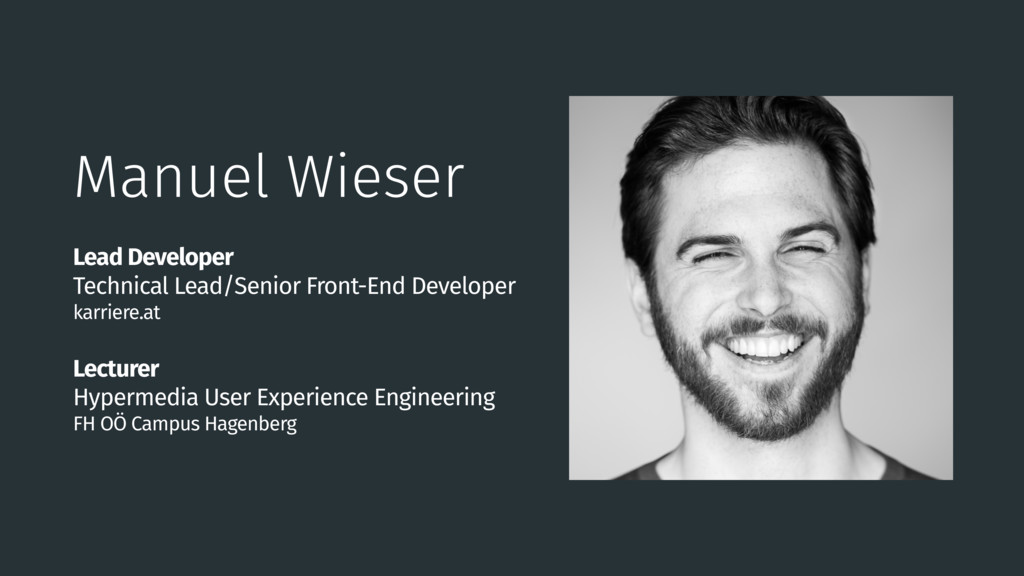 Manuel Wieser Lead Developer