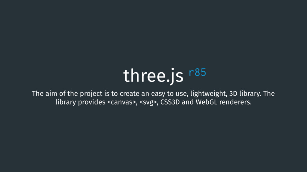 three.js The aim of the project is to create an...