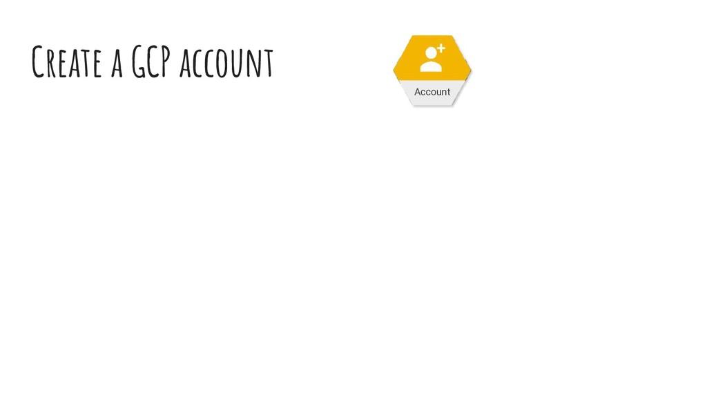 Create a GCP account Account