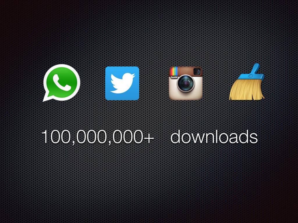100,000,000+ downloads