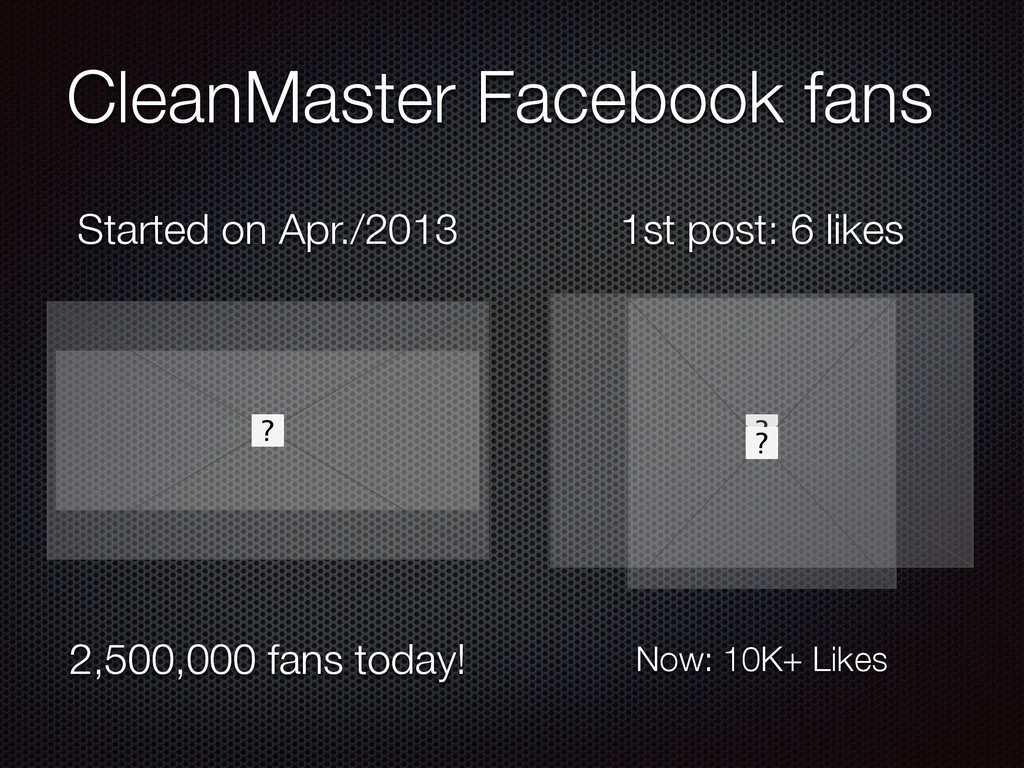 CleanMaster Facebook fans Started on Apr./2013 ...