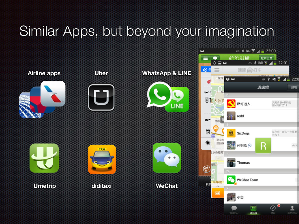Similar Apps, but beyond your imagination Uber ...