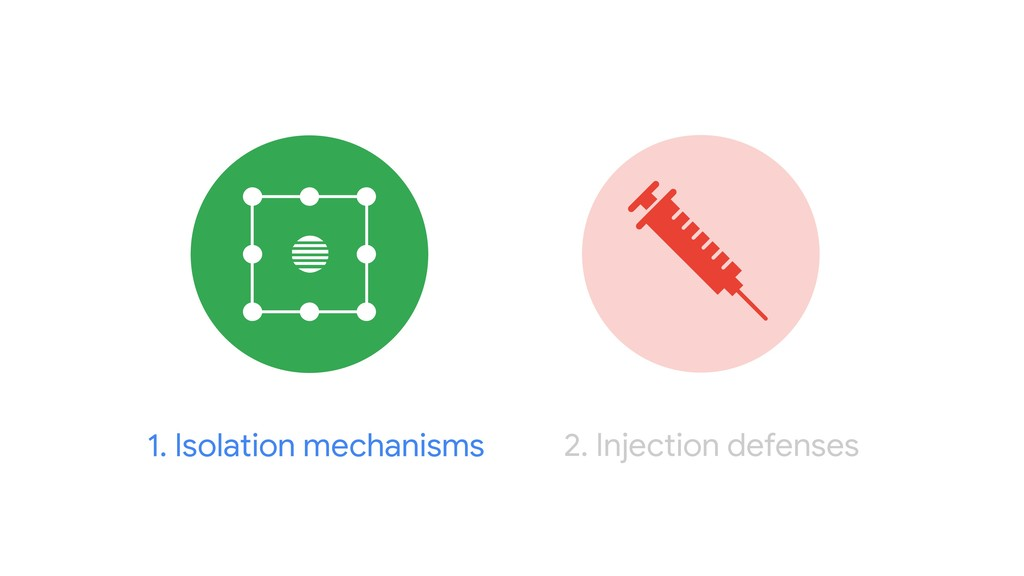 2. Injection defenses 1. Isolation mechanisms