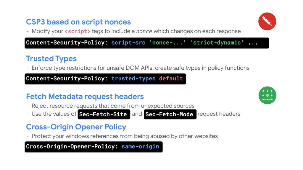 CSP3 based on script nonces - Modify your <scri...