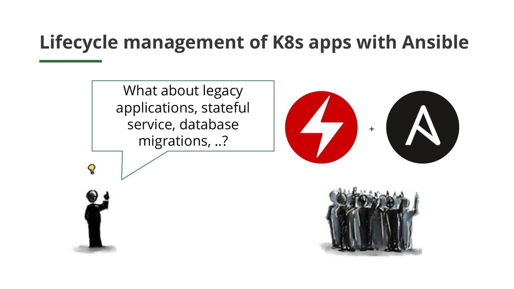 Lifecycle management of K8s apps with Ansible +...