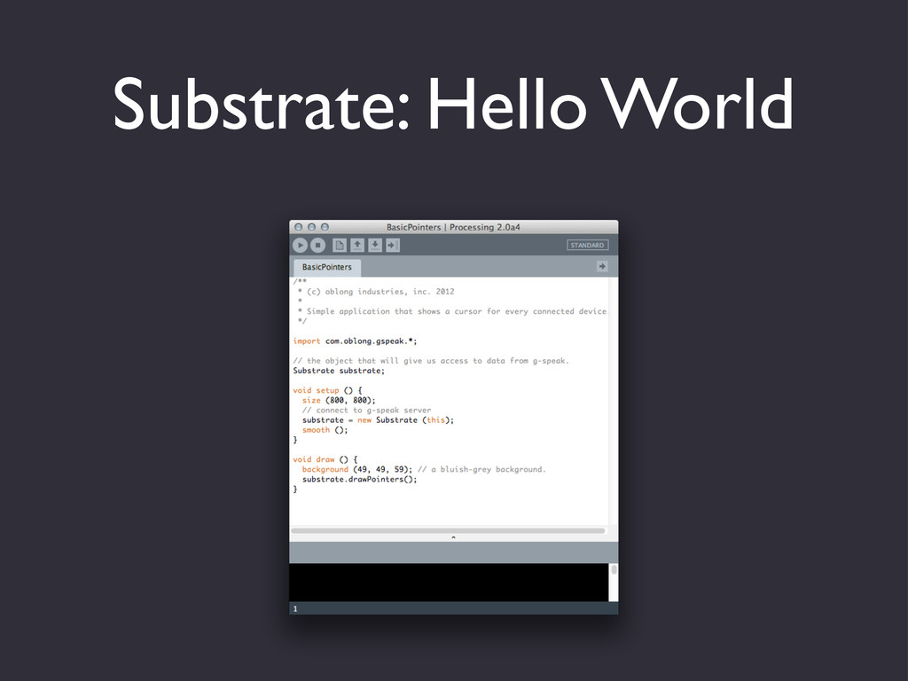 Substrate: Hello World