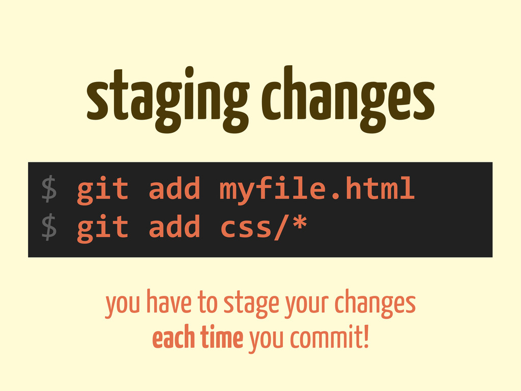 staging changes $	