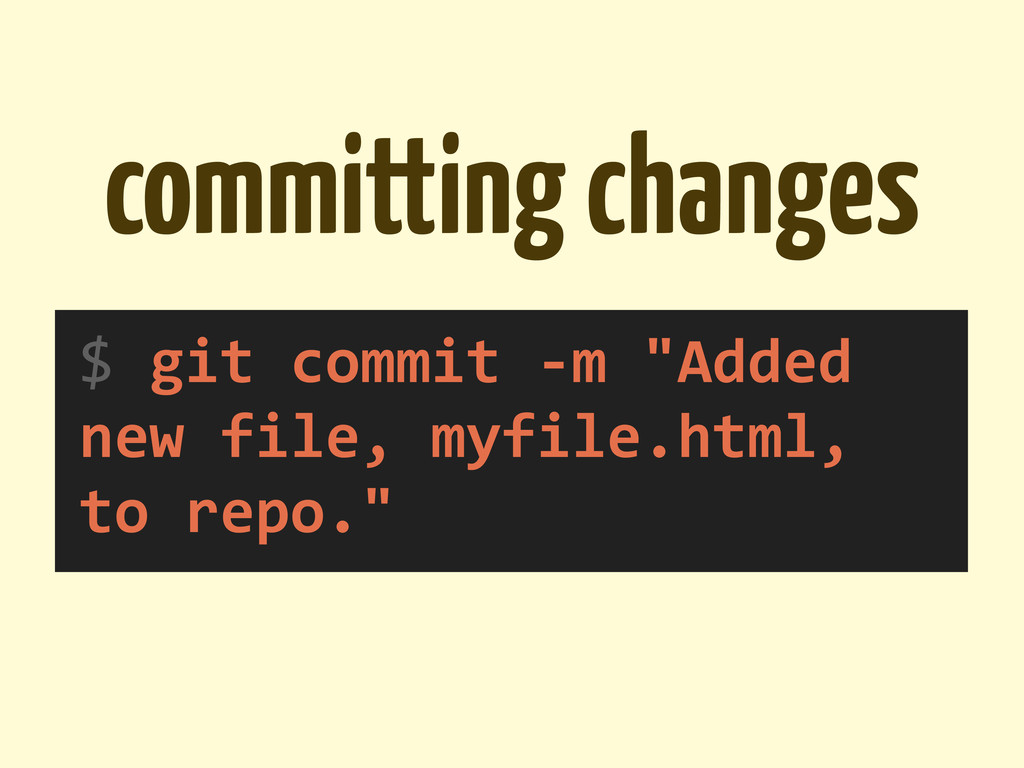 committing changes $	