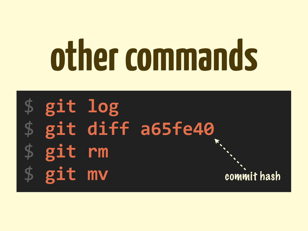 other commands $	