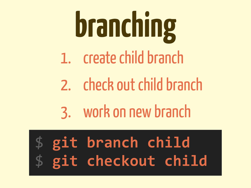 branching $	