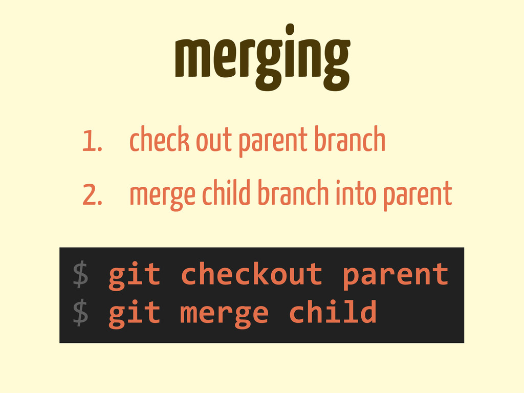 merging $	