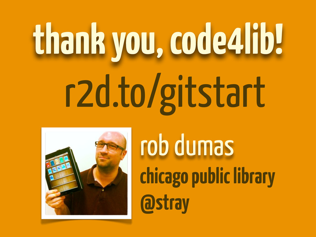 rob dumas chicago public library @stray thank y...
