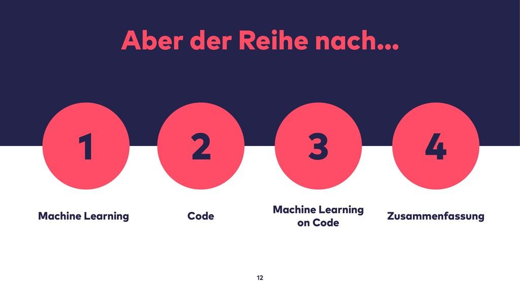 Aber der Reihe nach… 12 Machine Learning Code M...