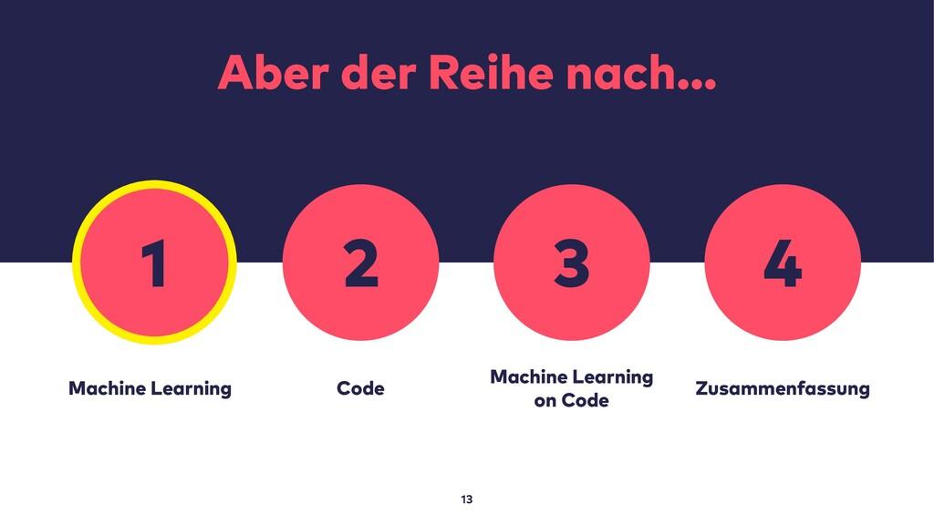 Aber der Reihe nach… 13 Machine Learning Code M...