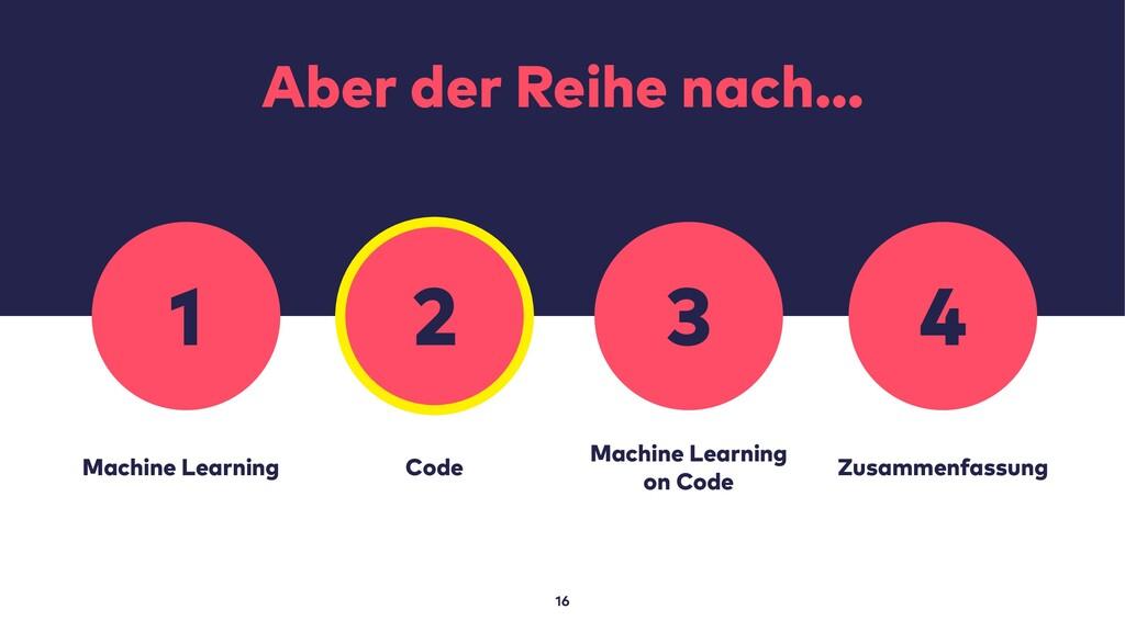 Aber der Reihe nach… 16 Machine Learning Code M...