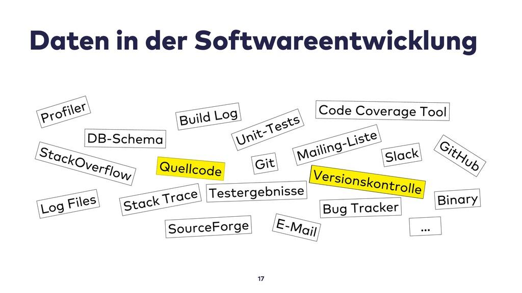 Daten in der Softwareentwicklung 17