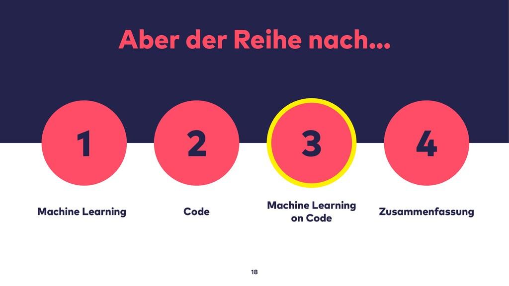 Aber der Reihe nach… 18 Machine Learning Code M...