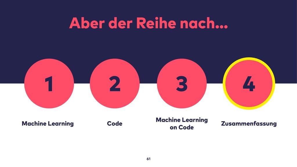 Aber der Reihe nach… 61 Machine Learning Code M...