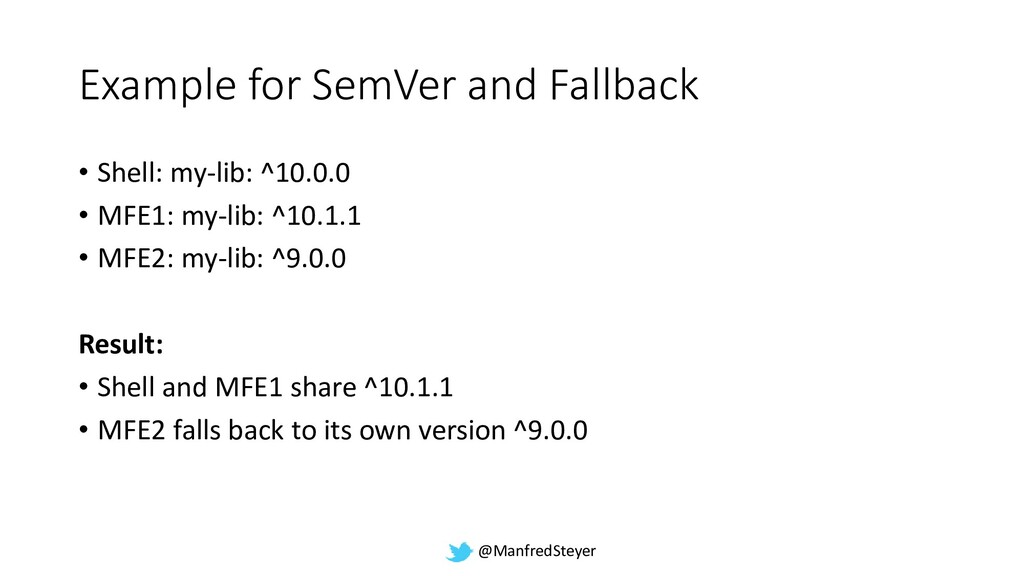 @ManfredSteyer Example for SemVer and Fallback ...