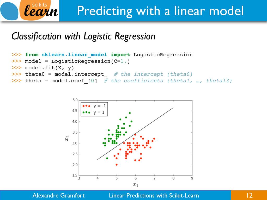 Alexandre Gramfort Linear Predictions with Scik...