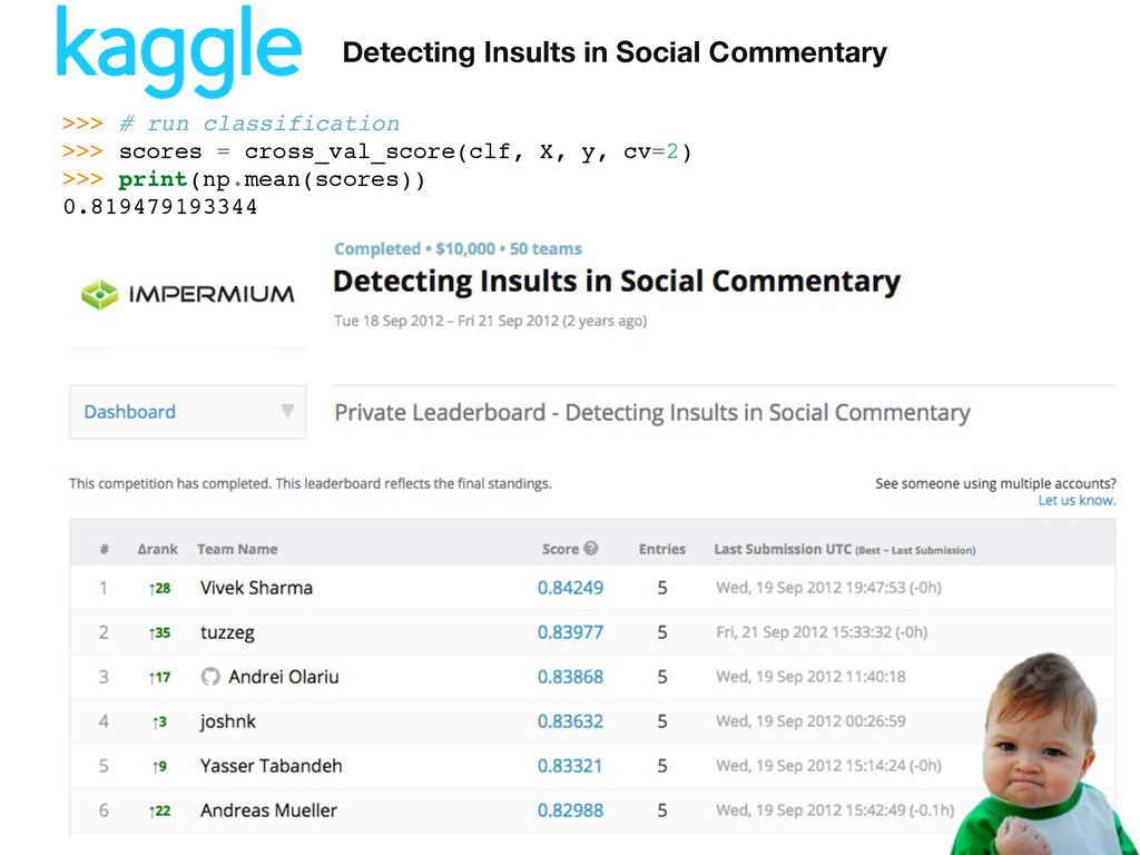 Detecting Insults in Social Commentary >>> # ru...