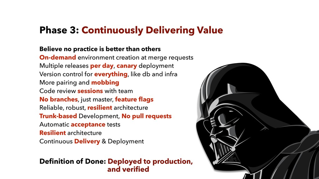 Phase 3: Continuously Delivering Value Believe ...