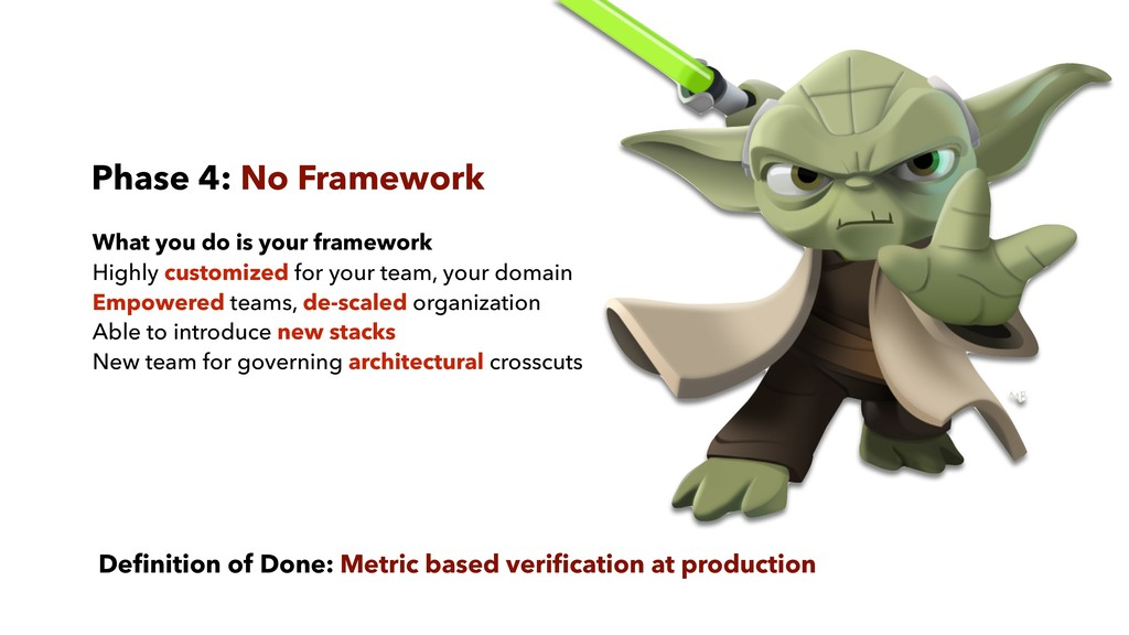 Phase 4: No Framework What you do is your frame...