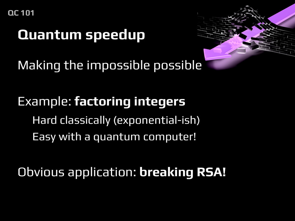 Quantum speedup Making the impossible possible ...