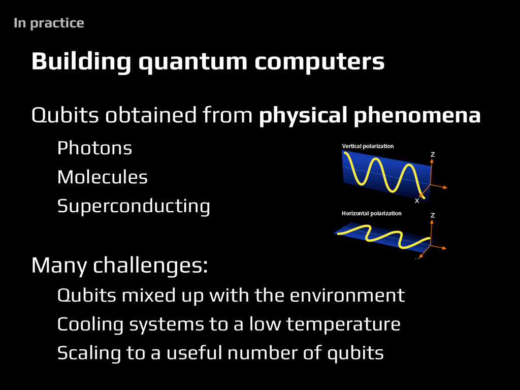 Building quantum computers Qubits obtained from...