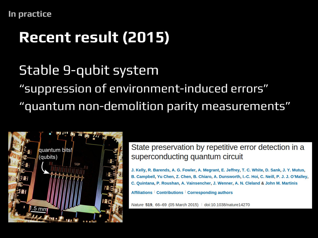 """Stable 9-qubit system """"suppression of environme..."""