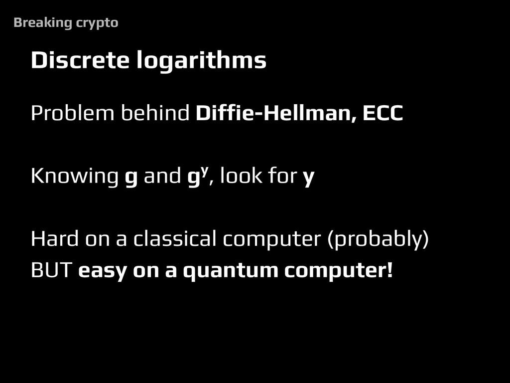 Discrete logarithms Problem behind Diffie-Hellm...