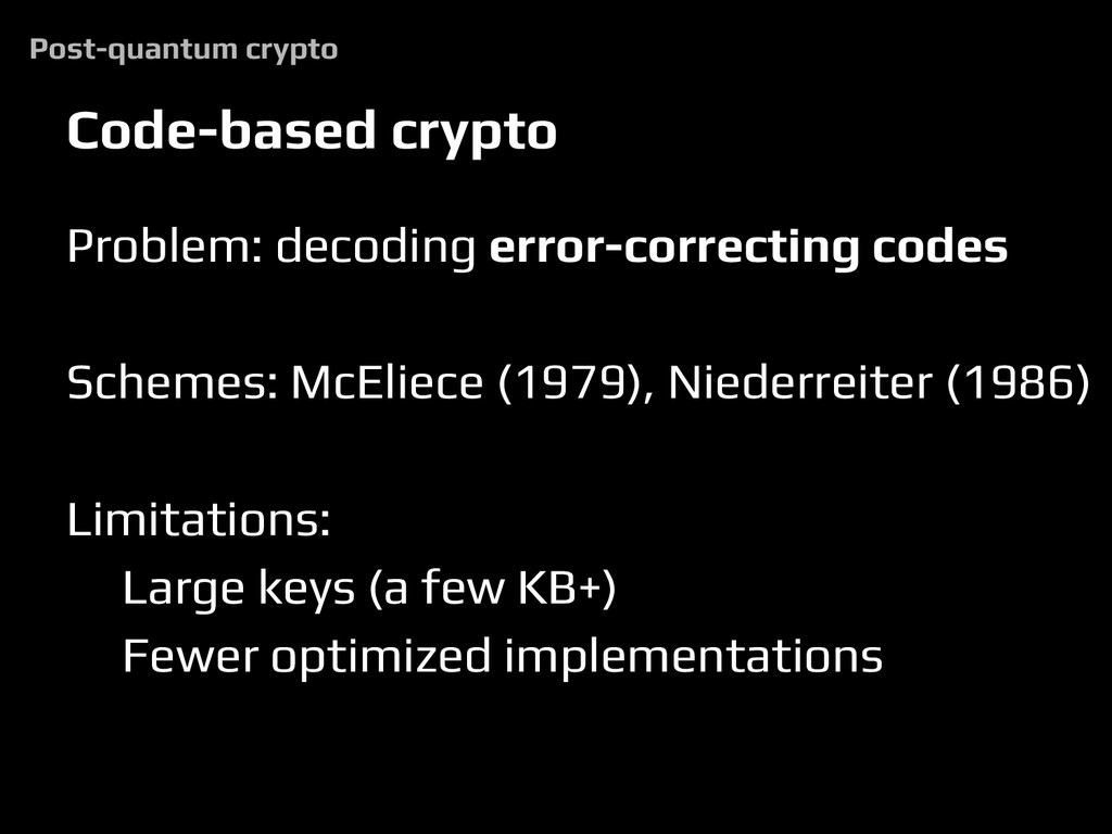 Code-based crypto Problem: decoding error-corre...