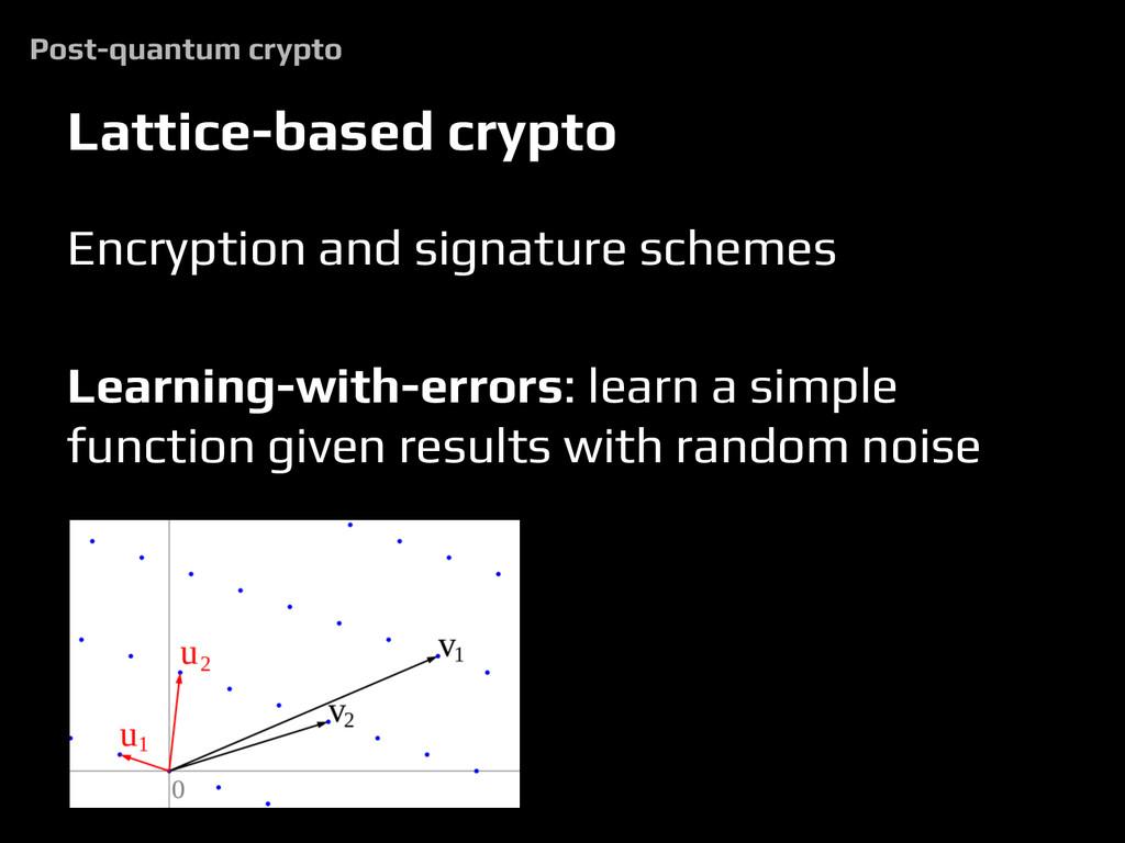 Lattice-based crypto Encryption and signature s...
