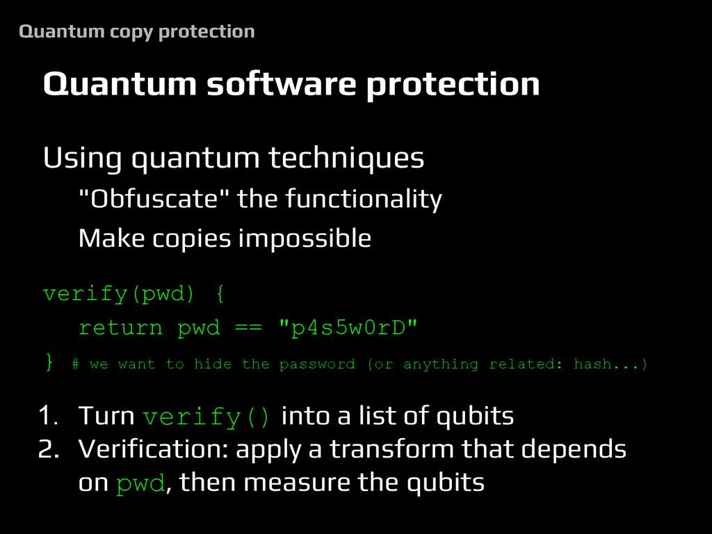 Quantum software protection Using quantum techn...