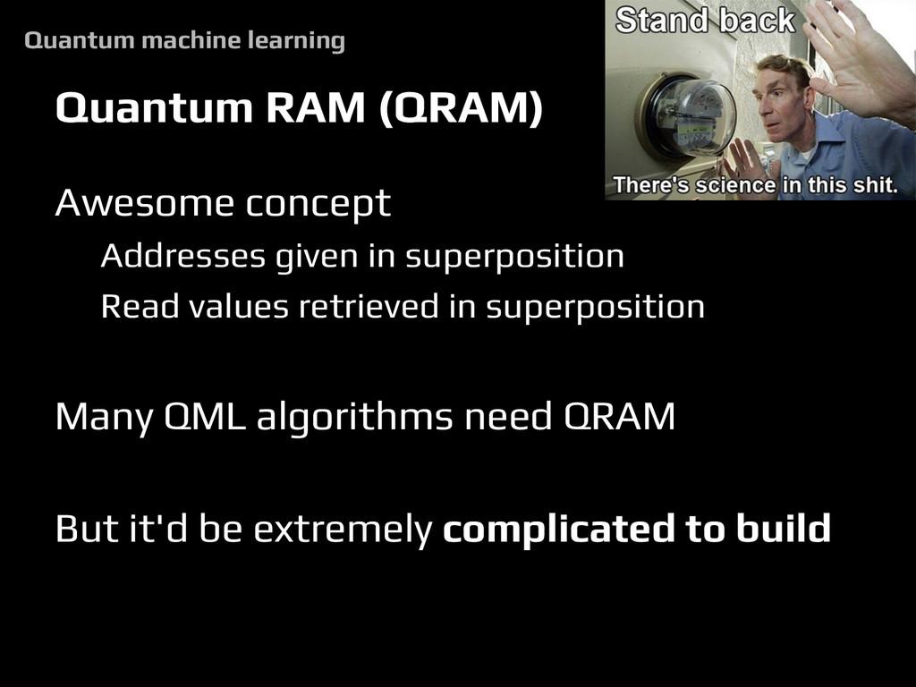 Quantum RAM (QRAM) Awesome concept Addresses gi...