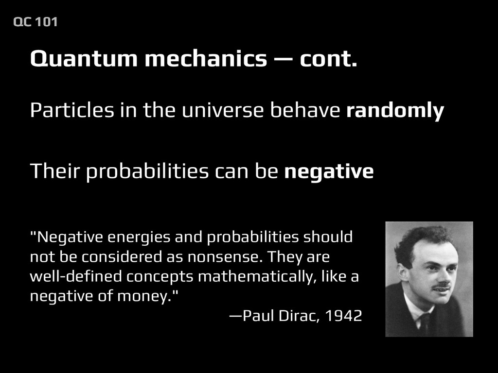 Quantum mechanics — cont. Particles in the univ...